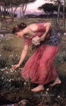 Narcissus Art - Narcissus JW Greek female John William Waterhouse
