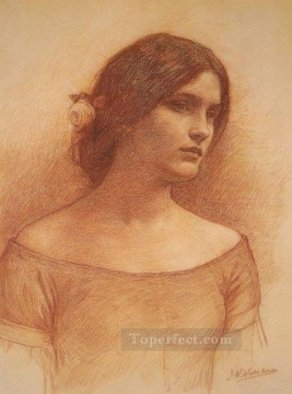 william art painting - StudyfortheLadyClareSmall Greek female John William Waterhouse