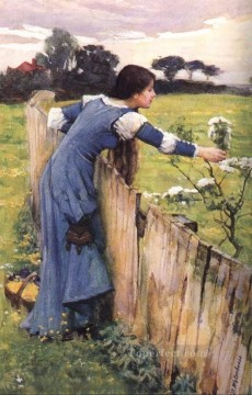 flower Art Painting - The Flower Picker JW Greek female John William Waterhouse