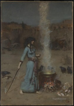 3d magic fantasy Painting - The Magic Circle Greek Arthurian John William Waterhouse