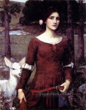william art painting - The lady clare JW Greek female John William Waterhouse