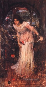 william art painting - The lady of shalott study JW Greek female John William Waterhouse