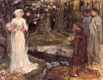 beatrice Art - Dante and Beatrice Greek female John William Waterhouse