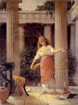 Style Works - In the Peristyle Greek female John William Waterhouse