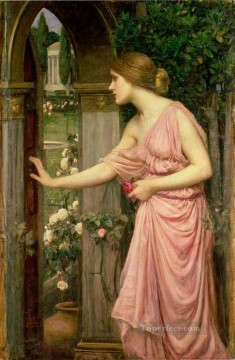 Cupid Works - Psyche Entering Cupids Garden Greek John William Waterhouse