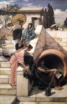 william art painting - Diogenes Greek female John William Waterhouse