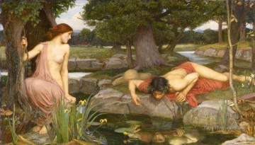 Narcissus Art - Echo and Narcissus Greek female John William Waterhouse