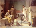 A Sick Child Brought into the Temple of Aesculapius Greek John William Waterhouse