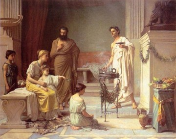 A Sick Child Brought into the Temple of Aesculapius Greek John William Waterhouse Oil Paintings