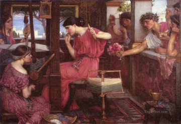 Water Works - Penelope and the Suitors Greek female John William Waterhouse