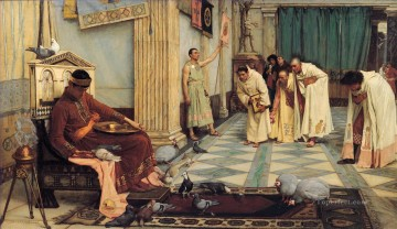 Greek Canvas - The Favourites of the Emperor Honorious Greek John William Waterhouse