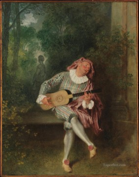 Mezzetin Jean Antoine Watteau Oil Paintings