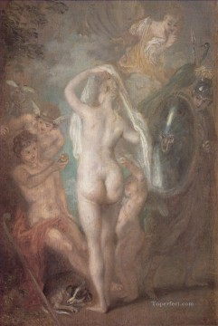 Paris Art - Le Jugement de Paris nude Jean Antoine Watteau
