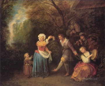 La Danse Champetre Jean Antoine Watteau Oil Paintings