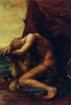 adam Painting - Adam and Eve symbolist George Frederic Watts
