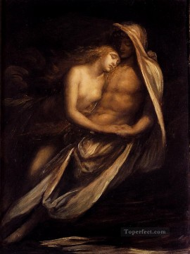 Francesca Painting - Paulo And Francesca symbolist George Frederic Watts