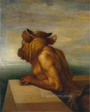 The Minotaur symbolist George Frederic Watts Oil Paintings