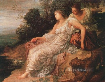 AX Painting - Ariadne on the Island of Naxos symbolist George Frederic Watts