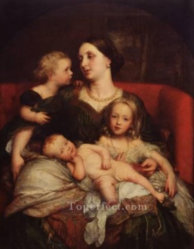 vagabonds resting in a cave Painting - Mrs George Augustus Frederick Cavendish Bentinck and her Children symbolist George Frederic Watts