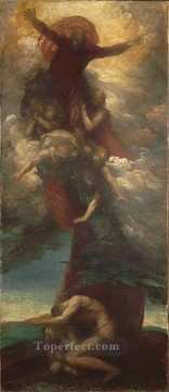 adam Painting - The Denunciation of Adam and Eve symbolist George Frederic Watts