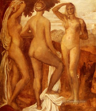Paris Painting - The Judgement Of Paris symbolist George Frederic Watts