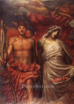 Time Death and Judgement 1900 symbolist George Frederic Watts Oil Paintings