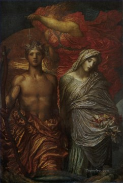 Time Death and Judgement symbolist George Frederic Watts Oil Paintings