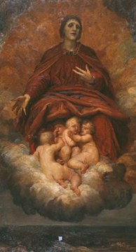 Christian Oil Painting - The Spirit of Christianity symbolist George Frederic Watts