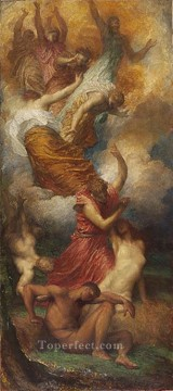 The Creation of Eve symbolist George Frederic Watts Oil Paintings