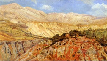 Persian Painting - Village in Atlas Mountains Morocco Persian Egyptian Indian Edwin Lord Weeks