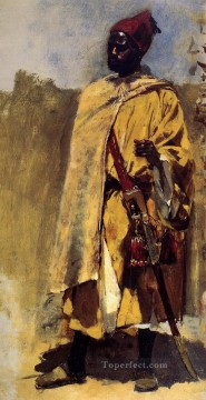 Persian Painting - Moorish Guard Persian Egyptian Indian Edwin Lord Weeks