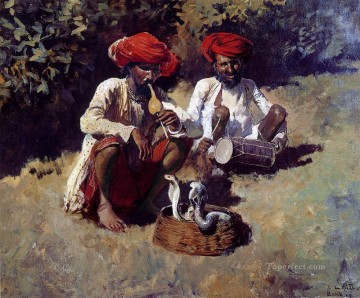 Persian Painting - The Snake Charmers Bombay Persian Egyptian Indian Edwin Lord Weeks