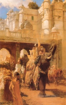 Persian Painting - A Royal Procession Persian Egyptian Indian Edwin Lord Weeks
