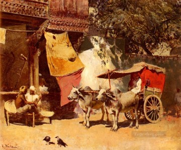 Persian Painting - An Indian Gharry Persian Egyptian Indian Edwin Lord Weeks