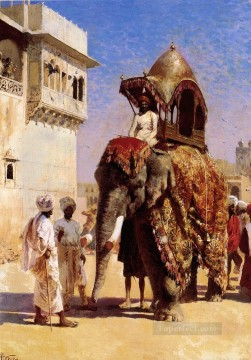 Persian Painting - Moguls Elephant Persian Egyptian Indian Edwin Lord Weeks