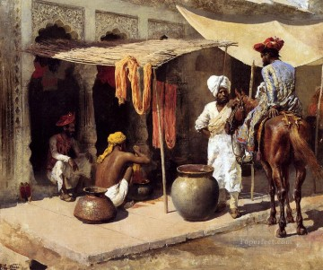 Persian Painting - Outside An Indian Dye House Persian Egyptian Indian Edwin Lord Weeks