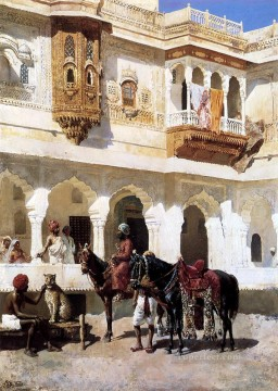 Persian Painting - Leaving For The Hunt Persian Egyptian Indian Edwin Lord Weeks