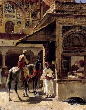 Persian Painting - Street Scene In India Persian Egyptian Indian Edwin Lord Weeks