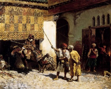 Persian Painting - The Arab Gunsmith Persian Egyptian Indian Edwin Lord Weeks
