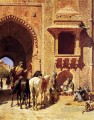 Gate Of The Fortress At Agra India Persian Egyptian Indian Edwin Lord Weeks