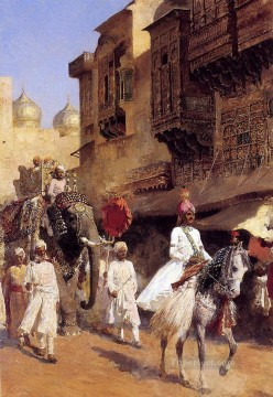 Persian Painting - Indian Prince And Parade Ceremony Persian Egyptian Indian Edwin Lord Weeks