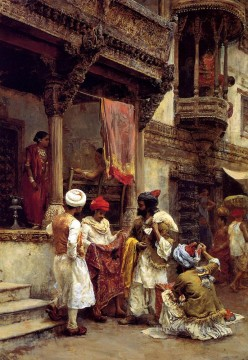 Persian Painting - The Silk Merchants Persian Egyptian Indian Edwin Lord Weeks