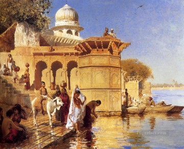 Persian Painting - Along The Ghats Mathura Persian Egyptian Indian Edwin Lord Weeks