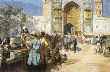 Persian Painting - An OpenAir Restaurant Lahore Persian Egyptian Indian Edwin Lord Weeks