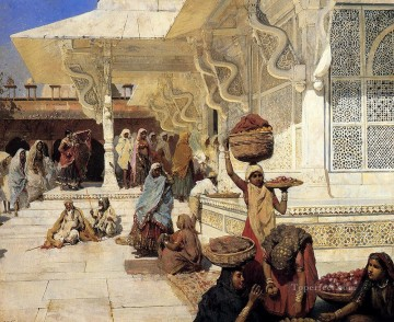 Festival Art - Festival At Fatehpur Sikri Persian Egyptian Indian Edwin Lord Weeks