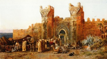 Persian Painting - Gate of Shehal Morocco Persian Egyptian Indian Edwin Lord Weeks