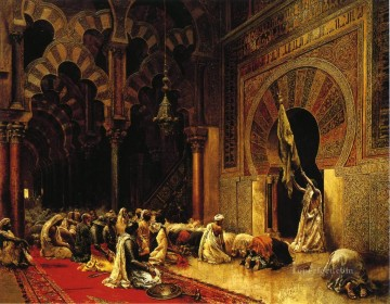 Persian Painting - Interior of the Mosque at Cordova Persian Egyptian Indian Edwin Lord Weeks
