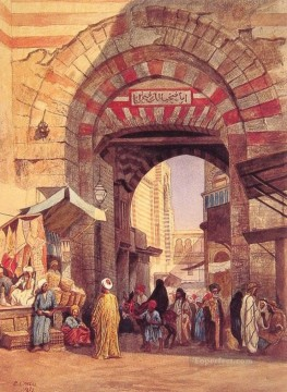 Persian Painting - The Moorish Bazaar Persian Egyptian Indian Edwin Lord Weeks