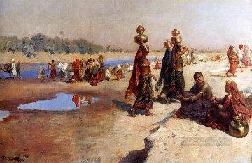 Persian Painting - Water Carriers Of The Ganges Persian Egyptian Indian Edwin Lord Weeks