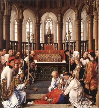 Rogier van der Weyden Painting - Exhumation of St Hubert Netherlandish painter Rogier van der Weyden